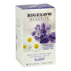 BIGELOW BENEFITS CHAMOMILE AND LAVENDER TEA 18 CT BOX