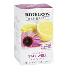 BIGELOW BENEFITS LEMON AND ECHINACEA TEA 18 CT BOX