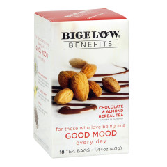 BIGELOW BENEFITS CHOCOLATE ALMOND TEA 18 CT BOX