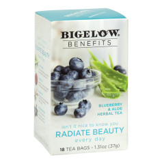 BIGELOW BENEFITS BLUEBERRY ALOE TEA 18 CT BOX