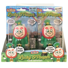 LUCKY O'POOPER ST. PATRICK'S DAY LEPRECHAUN CANDY DISPENSER 0.28 OZ