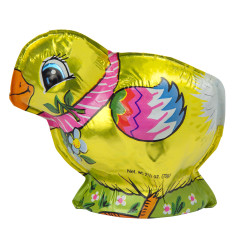 MADELAINE MILK CHOCOLATE FOILED SEMI SOLID CHICK 2.5 OZ