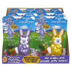FUNNY BUNNY WIND UP 0.28 OZ CANDY DISPENSER