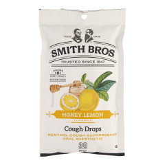SMITH BROS COUGH DROPS HONEY LEMON 4 OZ PEG BAG