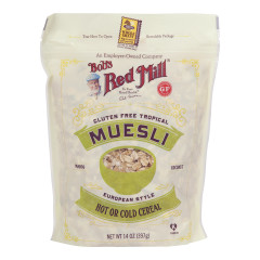 BOB'S RED MILL GLUTEN FREE TROPICAL MUESLI 14 OZ POUCH