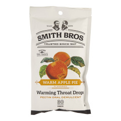 SMITH BROS COUGH DROPS WARM APPLE PIE 4 OZ PEG BAG