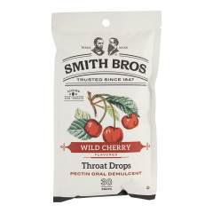 SMITH BROS COUGH DROPS WILD CHERRY 4 OZ PEG BAG