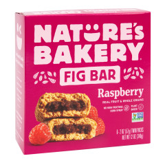 NATURE'S BAKERY RASPBERRY FIG BAR 6 PC 12 OZ BOX