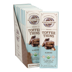 BLISSFULLY BETTER ALMOND TOFFEE THINS 1.6 OZ