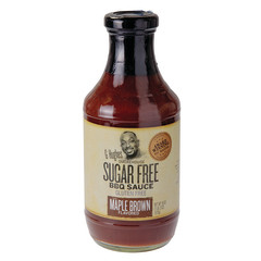 G HUGHES SUGAR FREE MAPLE BROWN BBQ SAUCE 18 OZ BOTTLE
