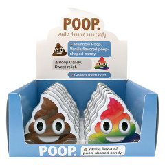 EMOJI POOP VANILLA FLAVORED POOP CANDY 1 OZ TIN