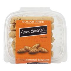 AUNT GUSSIE'S SUGAR FREE ALMOND BISCUITS 8 OZ TUB