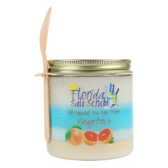 FLORIDA SALT SCRUBS SEA SALT GRAPEFRUIT SCRUB 2.9 OZ JAR *FL DC ONLY*
