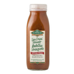 CINDY'S TOMATO AND BALSAMIC VINAIGRETTE DRESSING 16 OZ BOTTLE