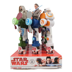 STAR WARS EPISODE 8 CHARACTER FAN WITH CANDY