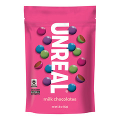 UNREAL MILK CHOCOLATE GEMS 6 OZ POUCH