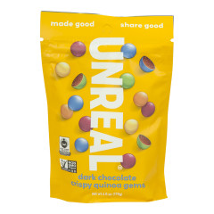 UNREAL DARK CHOCOLATE CRISPY QUINOA GEMS 6 OZ POUCH