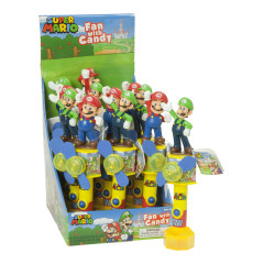 SUPER MARIO LIGHT UP FAN WITH CANDY 0.35 OZ