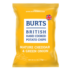 BURTS VINTAGE CHEDDAR AND GREEN ONION CHIPS 5.3 OZ BAG