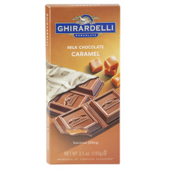 GHIRARDELLI PRESTIGE MILK CHOCOLATE CARAMEL 3.5 OZ BAR