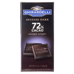 GHIRARDELLI INTENSE 72% DARK CHOCOLATE TWILIGHT DELIGHT 3.5 OZ BAR