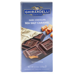 GHIRARDELLI DARK CHOCOLATE SEA SALT CARAMEL 3.5 OZ BAR