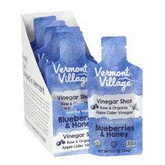 VERMONT VILLAGE BLUEBERRIES AND HONEY VINEGAR SHOT 1 OZ