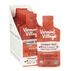 VERMONT VILLAGE CRANBERRIES AND HONEY VINEGAR SHOT 1 OZ