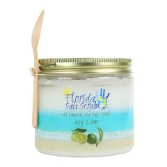 FLORIDA SALT SCRUBS SEA SALT KEY LIME SCRUB 24.2 OZ JAR *FL DC ONLY*