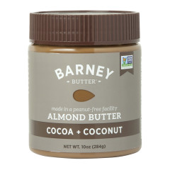 BARNEY BUTTER COCOA AND COCONUT ALMOND BUTTER 10 OZ JAR