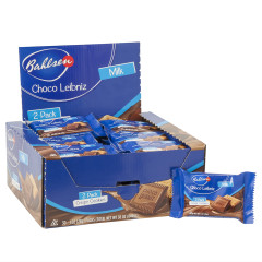 BAHLSEN MILK CHOCOLATE CHOCO LEIBNIZ CRISPY COOKIES 2 PC 1 OZ