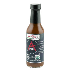 ANDRÉ ORGANIC SMOLDER HOT SAUCE 5 OZ BOTTLE *FL DC ONLY*