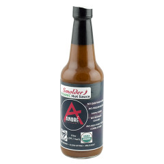 ANDRÉ ORGANIC SMOLDER HOT SAUCE 10 OZ BOTTLE *FL DC ONLY*