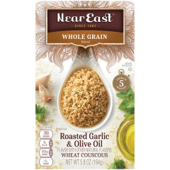 NEAR EAST WHOLE GRAIN WHEAT COUSCOUS WITH GARLIC AND OIL COUSCOUS 5.8 OZ BOX