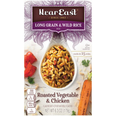 NEAR EAST VEGETABLE AND CHICKEN LONG GRAIN & WILD RICE 6 OZ BOX