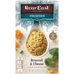 NEAR EAST BROCCOLI AND CHEESE COUSCOUS 5.6 OZ BOX