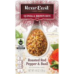 NEAR EAST ROASTED RED PEPPER AND BASIL QUINOA 4.9 OZ BOX
