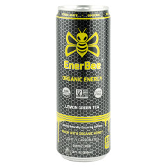 ENERBEE LEMON GREEN TEA ORGANIC ENERGY DRINK 12 OZ CAN *FL DC ONLY*