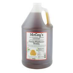 MCCOY'S FLORIDA WILDFLOWER HONEY 1 GALLON JUG *FL DC ONLY*