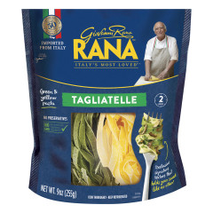RANA TAGLIATELLE GREEN AND YELLOW PASTA 9 OZ POUCH