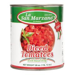LA SAN MARZANO DICED TOMATOES 28 OZ CAN