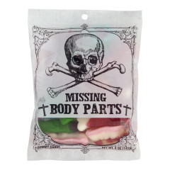 AMUSEMINTS MISSING BODY PARTS 5 OZ PEG BAG