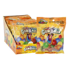 COLOR YOUR MOUTH GUMBALLS 20 PC 2.3 OZ PEG BAG