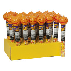 HALLOWEEN PUMPKIN CANDY CORN TUBE 1.5 OZ