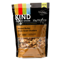 KIND ALMOND BUTTER WHOLE GRAIN CLUSTERS GRANOLA 11 OZ POUCH