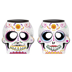 CHUPA CHUPS SKULL HEAD 0.42 OZ LOLLIPOP CONTAINER 80 CT
