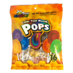 COLOR YOUR MOUTH FLAT POPS 2.8 OZ PEG BAG