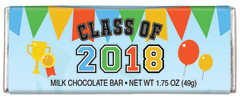 CLEVER CANDY CLASS OF 2018 MILK CHOCOLATE 1.75 OZ BAR