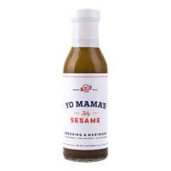 YO MAMA'S ZESTY SESAME DRESSING AND MARINADE 13 OZ BOTTLE