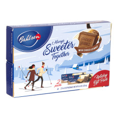 BAHLSEN LEIBNIZ MILK CHOCOLATE 2 PC HOLIDAY SLEEVE 8.8 OZ BOX